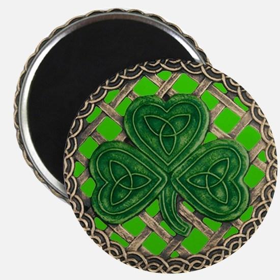 """Shamrock And Celtic Knots 2.25"""" Magnet (10 pack)"""