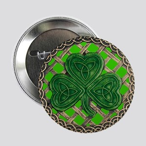 "Shamrock And Celtic Knots 2.25"" Button (10 pack)"