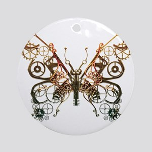 Industrial Butterfly (Copper) Ornament (Round)