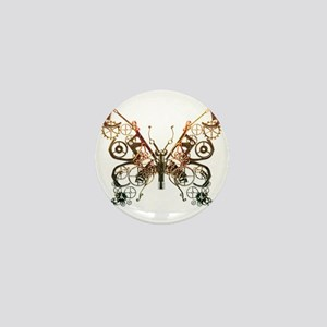 Industrial Butterfly (Copper) Mini Button