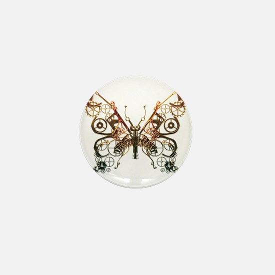 Industrial Butterfly (Copper) Mini Button