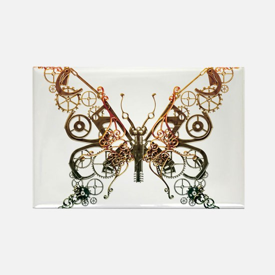 Industrial Butterfly (Copper) Rectangle Magnet (10