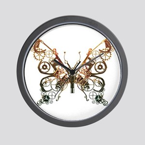 Industrial Butterfly (Copper) Wall Clock