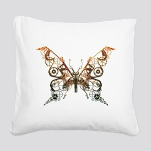 Industrial Butterfly (Copper) Square Canvas Pillow