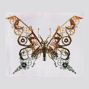 Industrial Butterfly (Copper) Throw Blanket