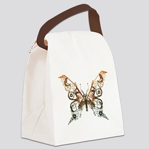 Industrial Butterfly (Copper) Canvas Lunch Bag