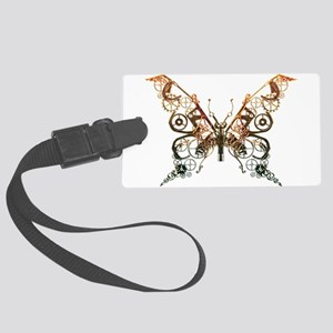 Industrial Butterfly (Copper) Luggage Tag