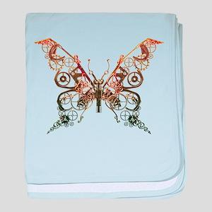 Industrial Butterfly (Copper) baby blanket
