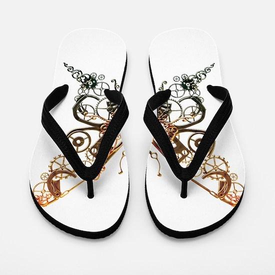 Industrial Butterfly (Copper) Flip Flops