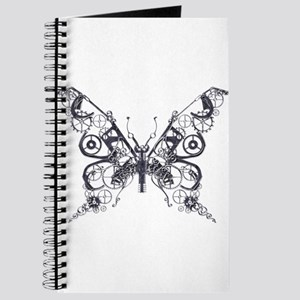 Silver Industrial Butterfly Journal