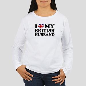 I Love My British Husband Women's Long Sleeve T-Sh