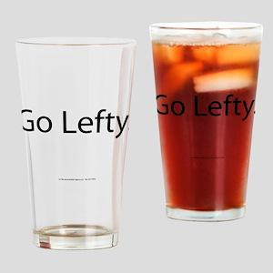 Go Lefty Drinking Glass