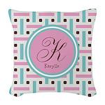 Personalized Monogram Woven Throw Pillow