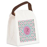 Personalized Monogram Canvas Lunch Bag