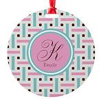Personalized Monogram Round Ornament