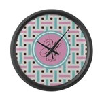 Personalized Monogram Large Wall Clock