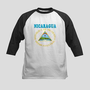 Nicaragua Coat Of Arms Designs Kids Baseball Jerse