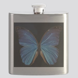 Elegant Blue Butterfly Flask