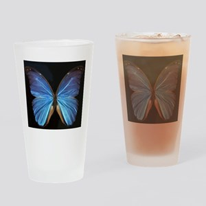 Elegant Blue Butterfly Drinking Glass