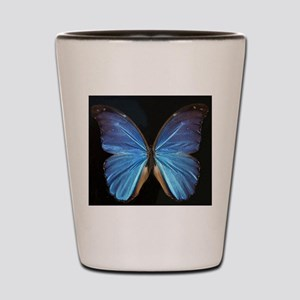 Elegant Blue Butterfly Shot Glass