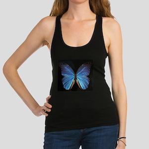 Elegant Blue Butterfly Racerback Tank Top