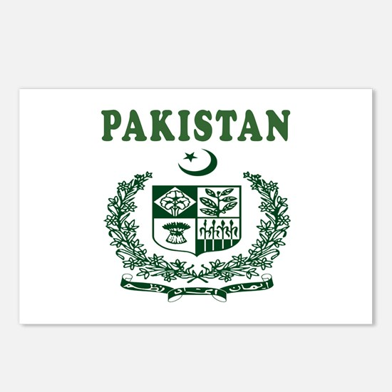 Pakistan Coat Of Arms Designs Postcards (Package o