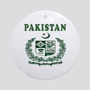 Pakistan Coat Of Arms Designs Ornament (Round)