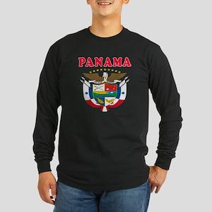 Panama Coat Of Arms Designs Long Sleeve Dark T-Shi