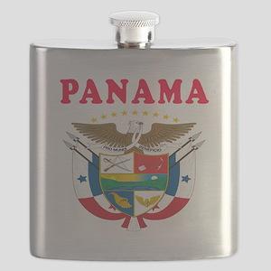 Panama Coat Of Arms Designs Flask