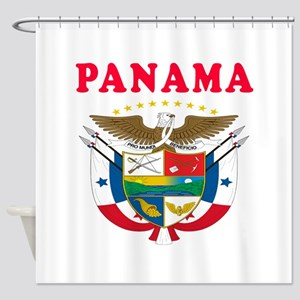 Panama Coat Of Arms Designs Shower Curtain