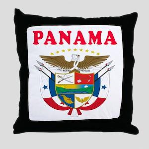 Panama Coat Of Arms Designs Throw Pillow
