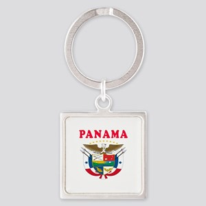 Panama Coat Of Arms Designs Square Keychain