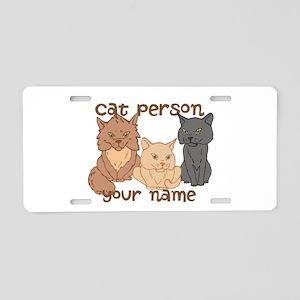 Personalized Cat Person Aluminum License Plate