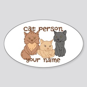 Personalized Cat Person Sticker