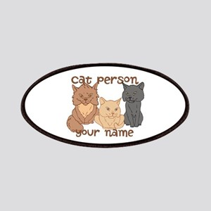 Personalized Cat Person Patches