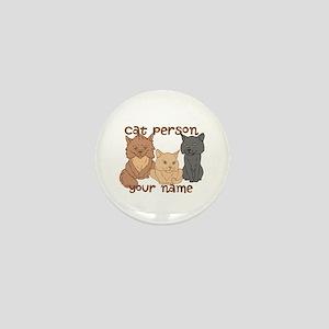 Personalized Cat Person Mini Button