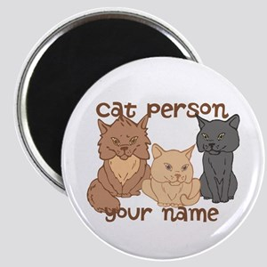 Personalized Cat Person Magnet