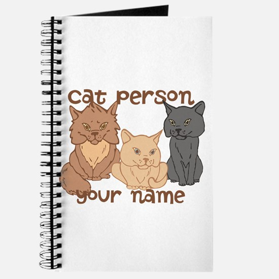 Personalized Cat Person Journal