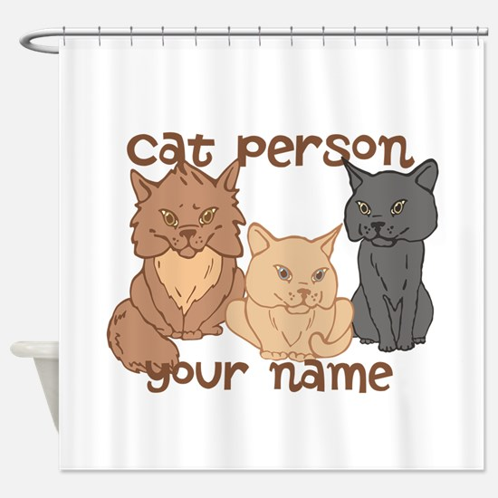 Personalized Cat Person Shower Curtain