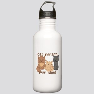 Personalized Cat Person Water Bottle