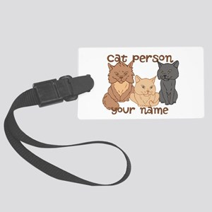 Personalized Cat Person Luggage Tag