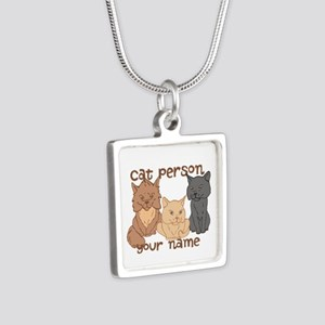 Personalized Cat Person Necklaces