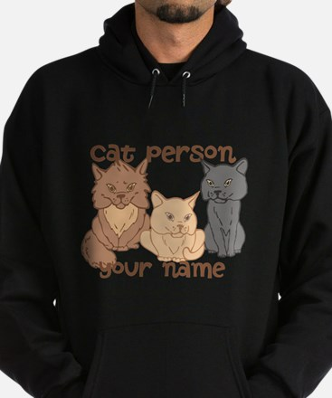 Personalized Cat Person Hoodie