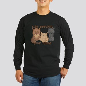 Personalized Cat Person Long Sleeve T-Shirt