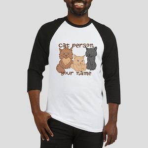Personalized Cat Person Baseball Jersey
