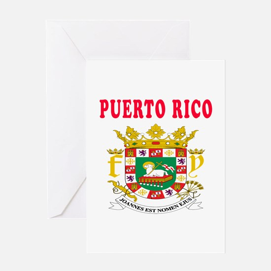 Puerto Rico Coat Of Arms Designs Greeting Card