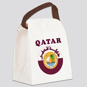 Qatar Coat Of Arms Designs Canvas Lunch Bag