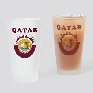 Qatar Coat Of Arms Designs Drinking Glass