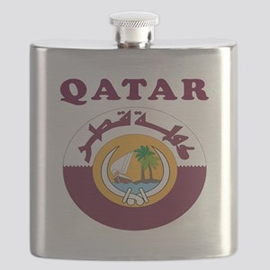 Qatar Coat Of Arms Designs Flask