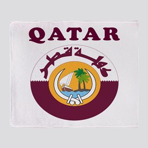 Qatar Coat Of Arms Designs Throw Blanket